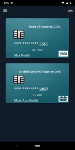 Credit Card Manager Screenshot
