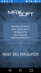 NFC NDEF Tag Emulator Screenshot