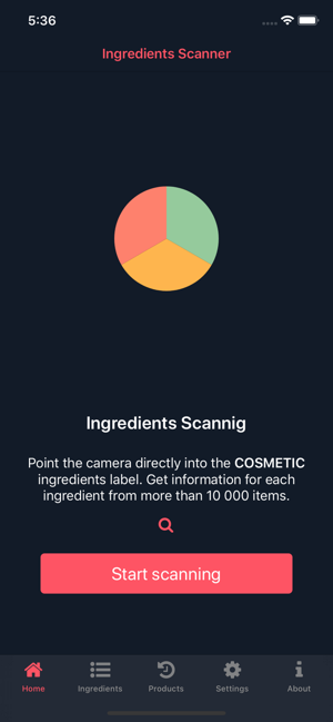 ‎Ingredients Scanner Screenshot